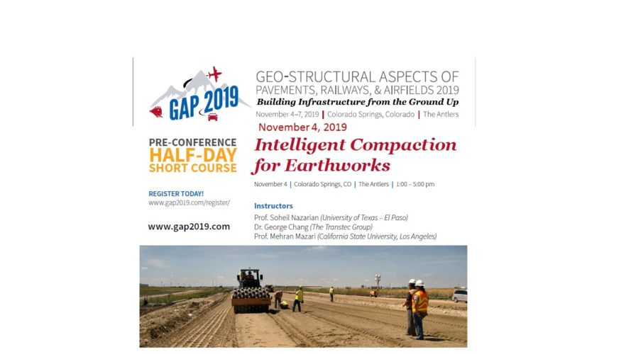 Intelligent Compaction Short Course at GAP 2019 Conference